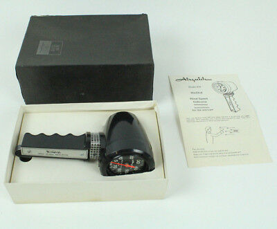 Airguide Deluxe Windial Vintage Hand Held Model No. 918 w/Box &Instructions Mint