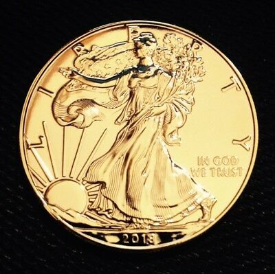 24K Gold Plated 2018 Silver Eagle