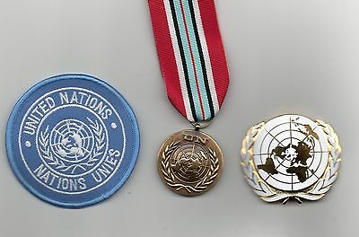 United Nations Medal For The Golan Heights   ,un Beret Badge And Sleeve Badge