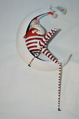 Department 56 Christmas Eve Santa on Moon Ornament 56.36774