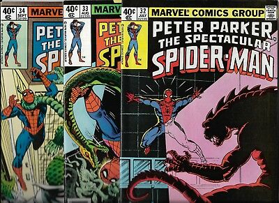 Marvel Comics  Spectacular Spider-Man  Lot of 3  issues # 32 33 34