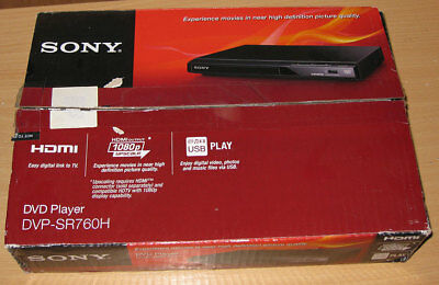 Sony DVP-SR760H Black Slim HD DVD CD & USB Player with HDMI Output