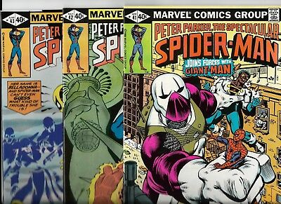 Marvel Comics  Spectacular Spider-Man  Lot of 3  issues # 41 42 43