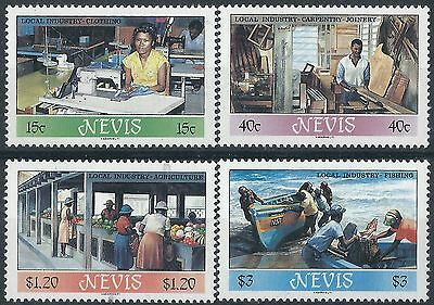 e228) Nevis. 1986. MNH. SG 402 to 405. Local Industries