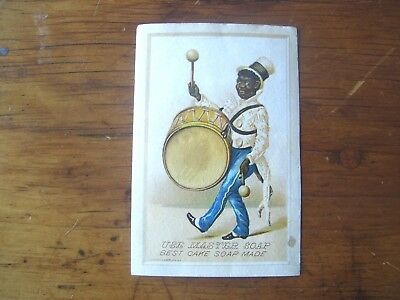 Nice Old Black Americana Master Soap Advertising Card