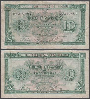 1943 Banque Nationale De Belgique (Belgium) 10 Francs