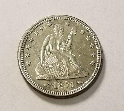 1874 Seated Liberty Quarter With Arrows (270)