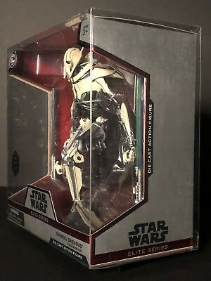 Star Wars Disney Elite Series Die Cast General Grievous Deflector Display Case