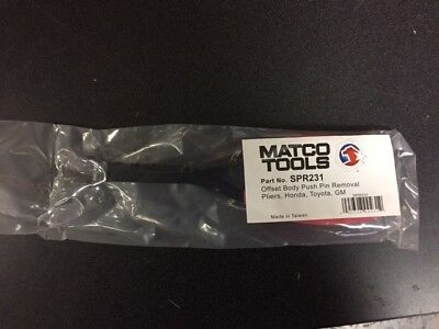New Matco Tools Spr231 Push Pin Angled Removal Pliers Honda, Toyota, Gm Vehicles