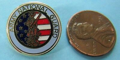 U.S. ARMY PIN vtg NATIONAL GUARD - Flag Soldier