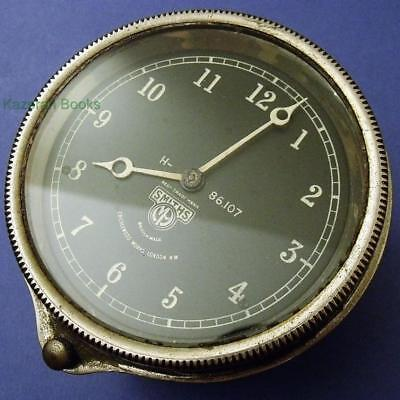 Smiths Cricklewood Bezel Wind 8 Day Car Dashboard Black Dial Clock Working H86.