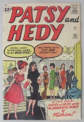 PATSY AND HEDY #83 AUGUST 1962 MARVEL ATLAS COMICS w/UNCUT PAPER DOLLS