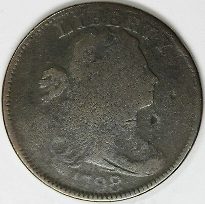 1798/7 1C Good+ Detail, Powdery Surface, 2 Obv Marks in Field, S-152, Large Cent