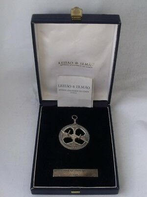 """Reproduction Solid Sterling Silver """"Dial Compass""""/ Dia 4.9 cm/ Boxed"""