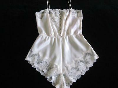 Vintage Barbizon Lacy Satin Remarque Cami-Knickers Teddy Ivory S Sexy Lingerie