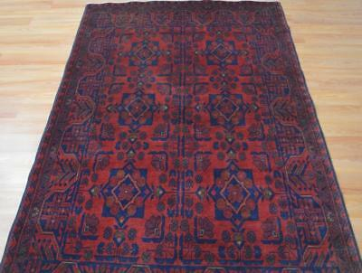 4'1 x 6'5 Top Quality Afghani Turkmen Khal Mohammadi Hand Knotted Wool Area Rug