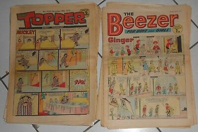 Lot Of Beezer And Topper Comics , 1971 To 1975