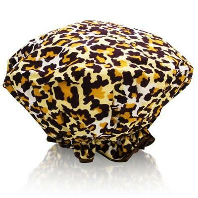 NEW NWT Spa Sister Bouffant Shower Cap Leopard Print Mother's Day Gift