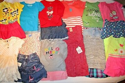 Big lot of girl clothes, size 4-5.  Shirts, Skirts and Dresses.  Skirt, dress.