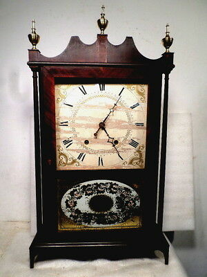 TERRY & Sons Pillar & Scroll Weight Shelf Clock Circa 1835-40
