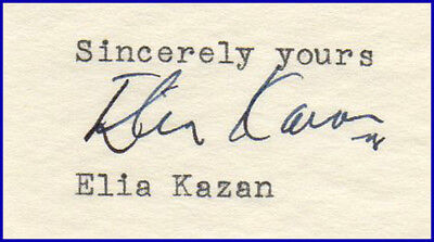 Oscar-Winning Director Elia KAZAN--Typed Letter Re: Working w/actor Van Heflin!!