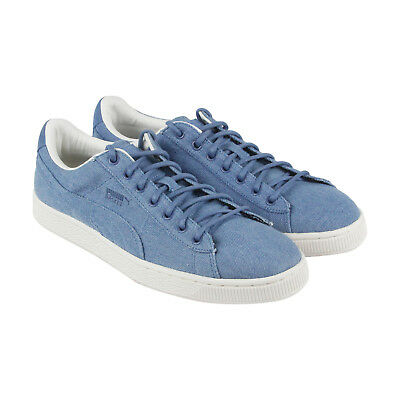 485331c657d PUMA BASKET CLASSIC Denim Mens Blue Textile Lace Up Sneakers Shoes ...