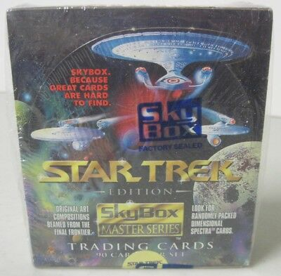 Factory Sealed 1993 Skybox Master Series 1 Star Trek Trading Cards Box 36 Count