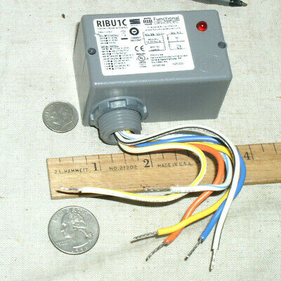 New Rib Ribu1C Enclosed 10A Amp Spdt Relay 10-30V Ac Or Dc Coil 120Vac Coil Usa