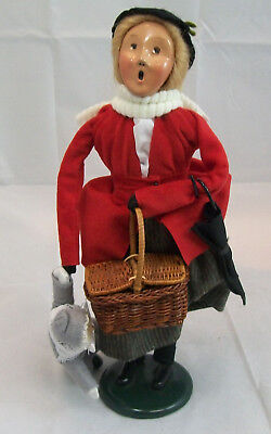 BYERS CHOICE CAROLERS 1994 LADY WITH PICNIC Basket Child
