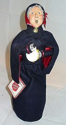 Byers Choice Carolers Salvation Army Lady With Tambourine. Has Tag. 1994