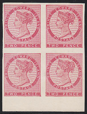 PEI 2d QV Imperf Block, Scott 5b/5vii, VF unused w/tiny flaws, catalogue - $650