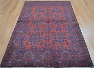 4'2 x 6'6 Top Quality Afghani Turkmen Khal Mohammadi Hand Knotted Wool Area Rug