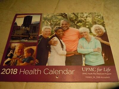 2018 Upmc Wall Calendar-Health Care