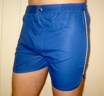 NEW Vtg 70s 80s Vanderbilt BLUE Striped Mens SMALL Retro TENNIS Track shorts NOS