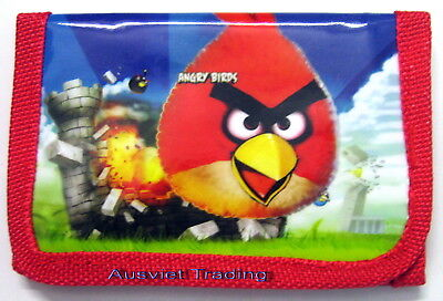 Brandnew Angry Birds boys girls kids games Wallet tri-fold coin purse