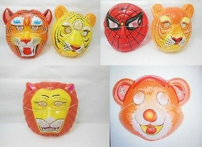 60 Cute Animal Design Plastic Masks Party Favor