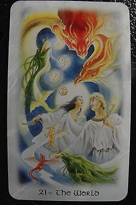 21 The World The Celtic Dragon Tarot Single Replacement Card Excellent