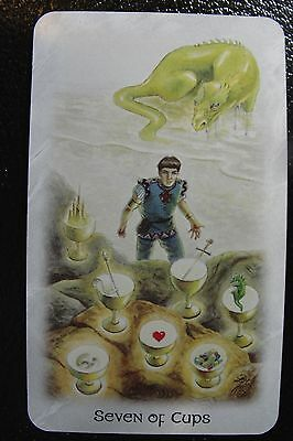Seven of Cups Celtic Dragon Tarot Single Replacement Card Excellent Condition
