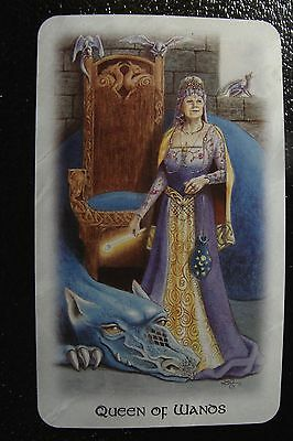 Queen of Wands The Celtic Dragon Tarot Single Replacement Card Excellent