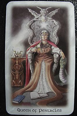 Queen of Pentacles Celtic Dragon Tarot Single Replacement Card Excellent