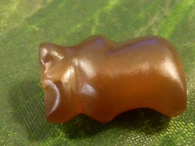 Ancient Pyu Kingdom Chalcedony Agate Elephant Amulet Bead 13.3 By 8.9 By 7 Mm