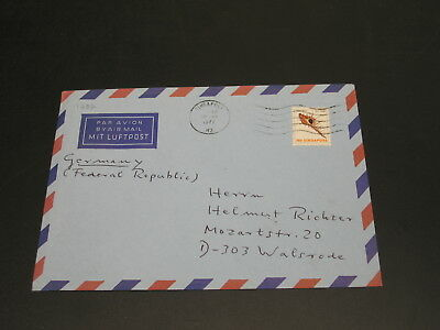Singapore 1977 airmail cover to Germany *1282