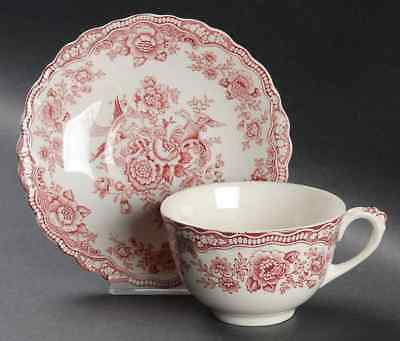 Crown Ducal BRISTOL PINK Cup & Saucer 1887499