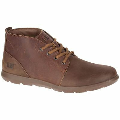 Caterpillar Arven Mid Peanut Mens Leather Lace-up Ankle Boots