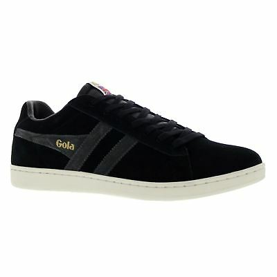 Gola Equipe Black Graphite Off White Mens Low Top Suede Trainers
