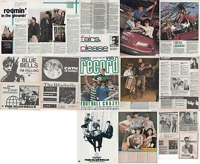 THE BLUEBELLS : CUTTINGS COLLECTION -adverts interviews-