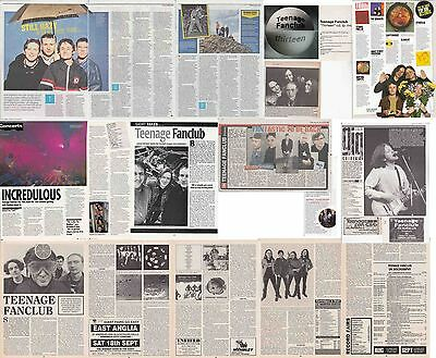 TEENAGE FANCLUB : CUTTINGS COLLECTION -interviews adverts-