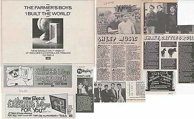 THE FARMER'S BOYS : CUTTINGS COLLECTION -adverts interviews-
