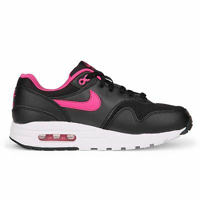 best loved c2d79 73203 Nike Air Max 1 Black Pink Youths Trainers