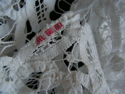 B'ful Lge Antique Victorian/edwardian All Hand Worked Decorative Tape Lace Cloth